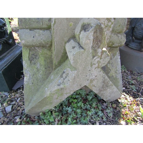 56 - Antique Architectural Stone Capping Approximately 3ft High x 2ft Wide...
