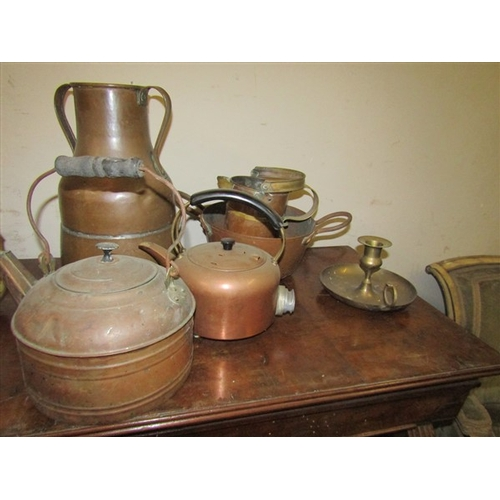 25 - Collection of Various Brass Items Including Kettle As Photographed...