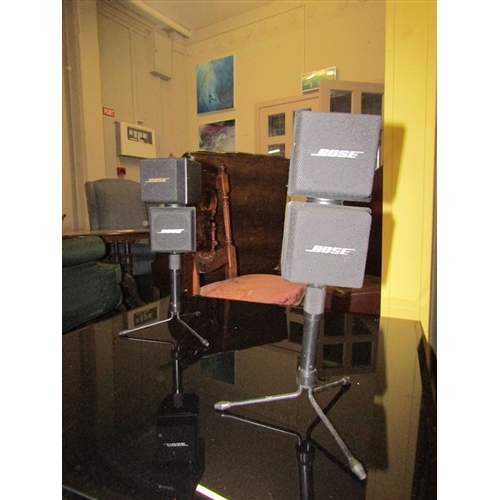 41 - Pair of Good Quality Bose Speakers on Integral Stands Each Approximately 12 Inches High...