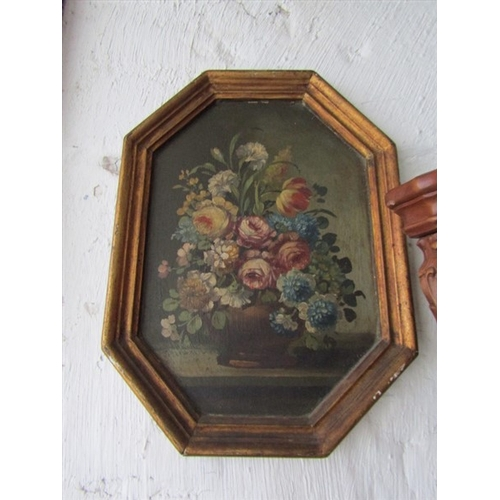 38 - Antique School Old Master Still Life Oil on Board 14 Inches High x 12 Inches Wide Approximately...