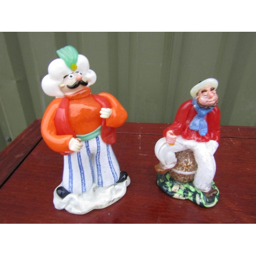 Pair of Vintage Murano Glass Figures Sailor Man and Aladdin Tallest Approximately 8 Inches High