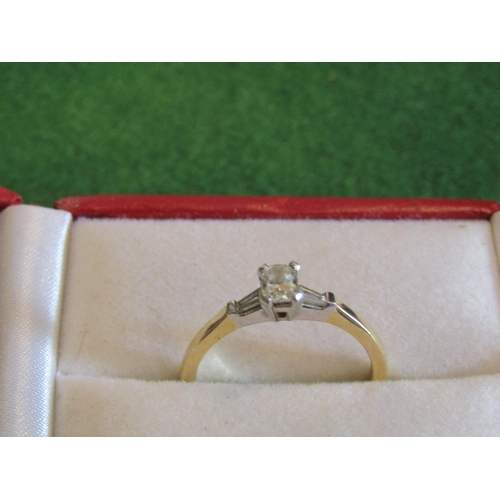 Ladies 18 Carat Gold Mounted 18 Stone Diamond Ring Good Colour