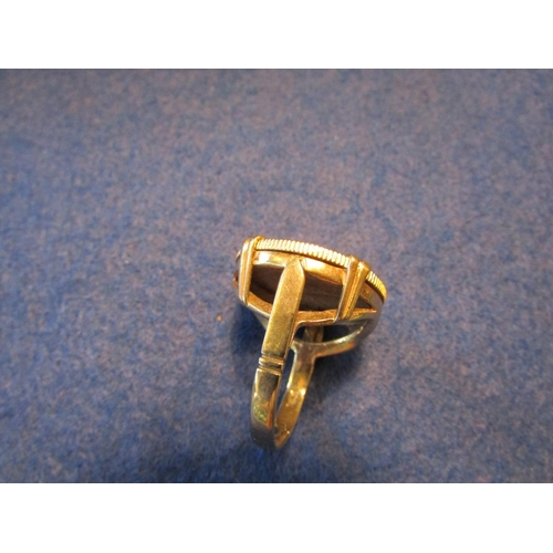 11 - Full Sovereign 9 Carat Gold Mounted Gents Ring Sovereign Dated 1900 Good Weight...