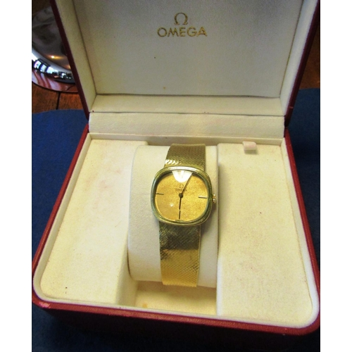 18 - Vintage Omega 18 Carat Gold Gentlemans Watch with Oval Form Dial 18 Carat Gold Case and Winder Brace...