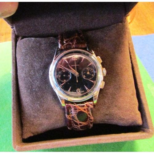 19 - Zenith Chronograph 18 Carat Pink Gold Manual c1975...