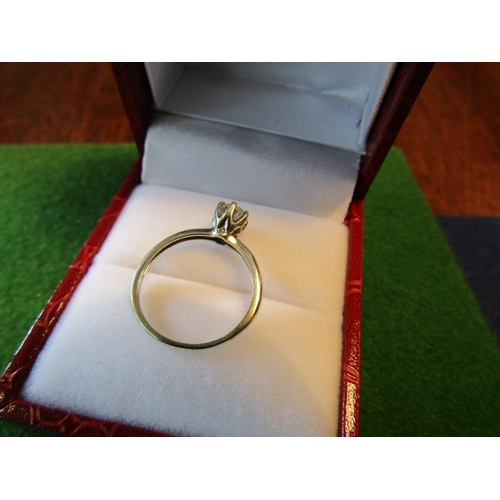 21 - Diamond Solitaire Ring Mounted on 9 Carat White Gold Centre Stone of Good Colour...