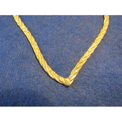 53 - Ladies 9 Carat Gold Articulated Flat Link Necklace...