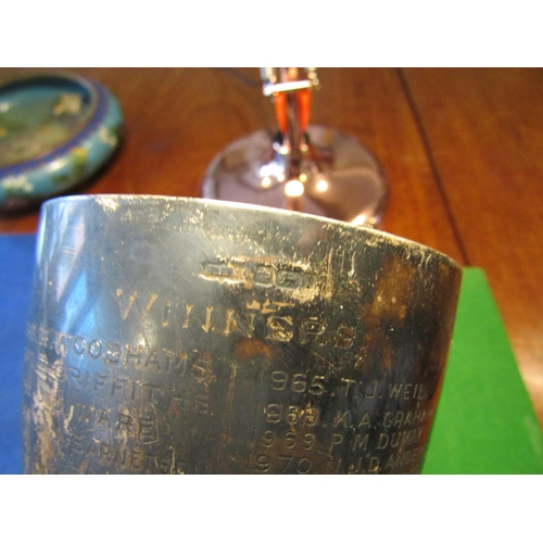 56 - Solid Silver Goblet of Pedestal Form on Turned Supports Approximately 8 Inches High Good Weight...