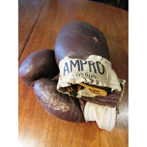 59 - Pair of Vintage Leather Boxing Gloves by Ampro Used Condition...