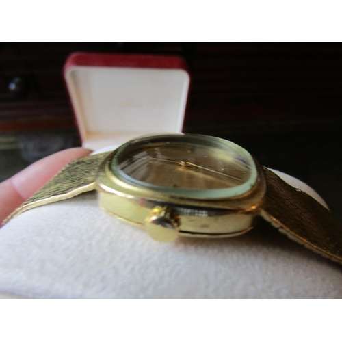 14 - Omega 18 Carat Gold Gentlemans Wristwatch with 18 Carat Gold Case Bracelet Clasp and Face Omega Box ...