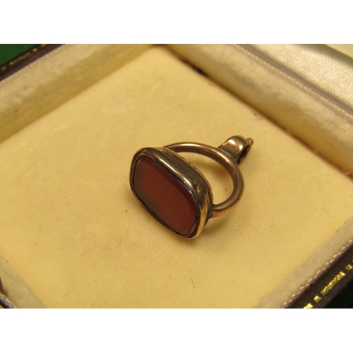 31 - Victorian 9 Carat Gold Bloodstone Fob Seal...