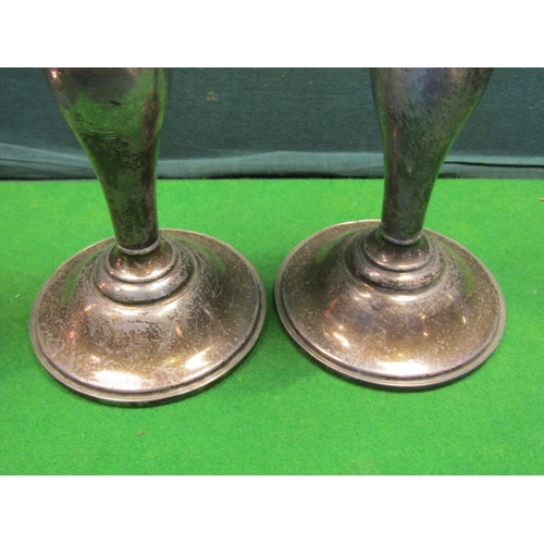 40 - Pair of Turned Column Candle Rests on Stepped Circular Bases Each Approximately 9 Inches High...