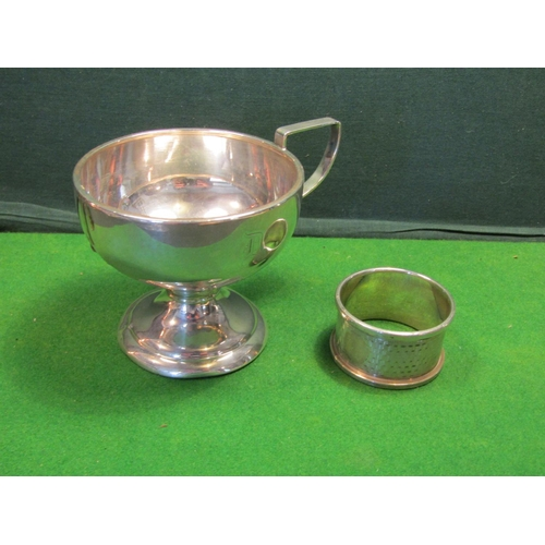 48 - Edwardian Solid Silver Napkin Ring and Cup Both Solid Silver...