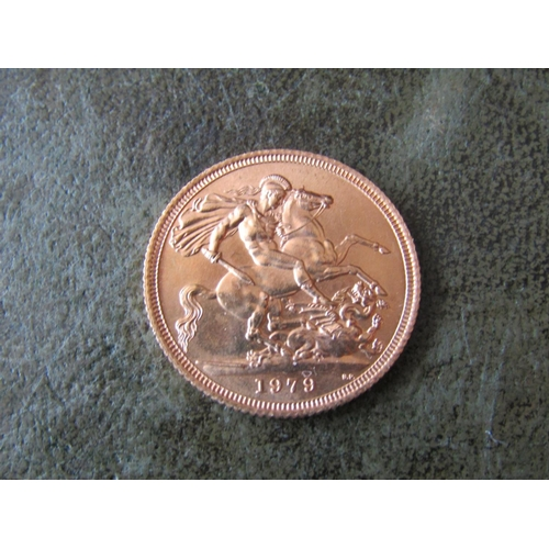 6 - Full Gold Sovereign Dated 1979...