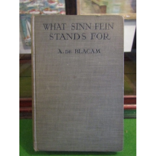 What Sinn Stands For by A De Blacam Antiquarian Volume