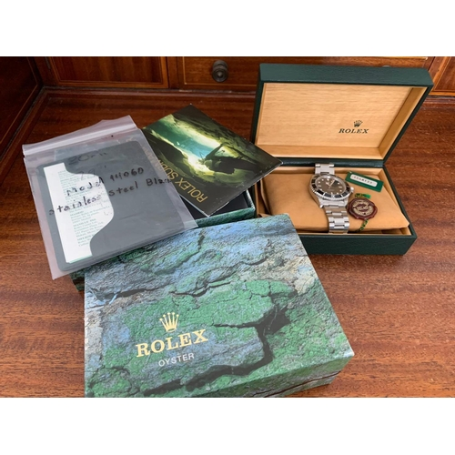 110 - Rolex Submariner Original Condition Articulated Bracelet Flip Lock Clasp with Rolex Coronet Working ...