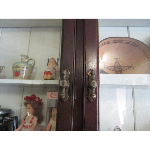 1875 - Victorian Mahogany Glazed Shop Cabinet Approximately 20ft Long x 7ft 8 Inches High Various Shelves t...