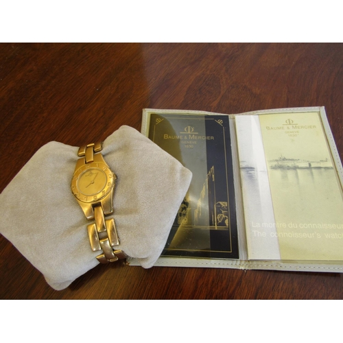 424 - Ladies Baume & Mercier Wristwatch Gold Filled with Articulated Bracelet Good Original Condition with...
