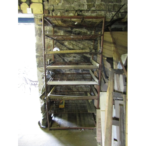 Old Cast Metal Drying Shelves Various Layers Approximately 6ft 8 Inches High x 2ft 6 Inches Wide