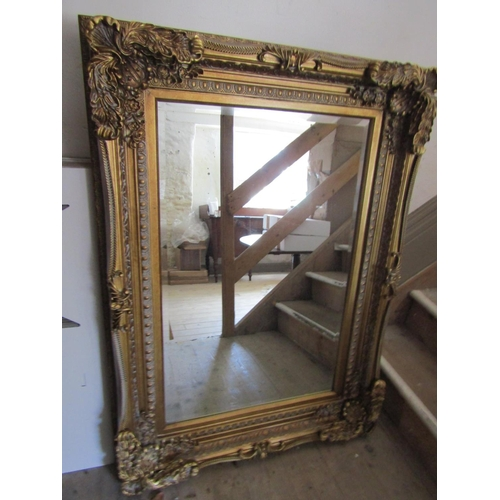 Rectangular Gilt Decorated Swept Corner Frame Good Original Condition Approximately 4ft High x 2ft 6 Inches Wide