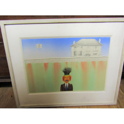 275 - John Devlin Irish School Tribal Differences Signed Lower Right Dated 1974 Watercolour Finely Detaile...