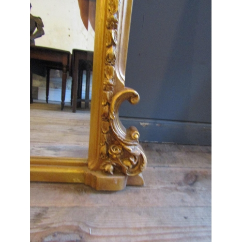 363 - Large Carved Giltwood Over Mantle Mirror Approximately 5ft 6 Inches High x 5ft 6 Inches Wide with We...