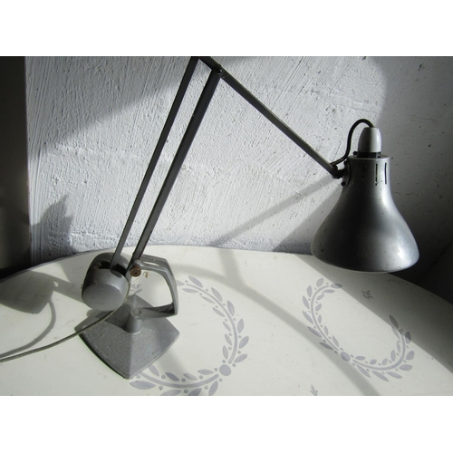 Vintage Angle Poise Table Lamp Electrified Working Order with Weighted Mechanism