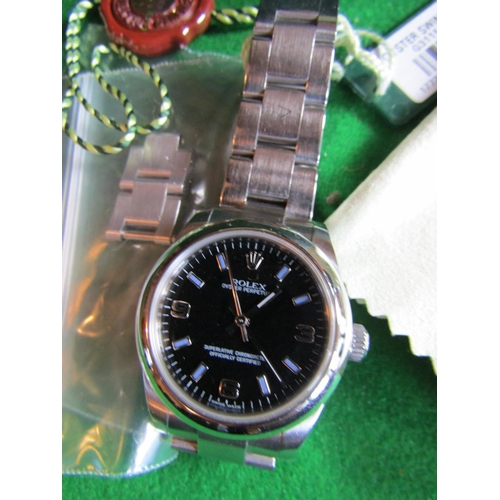 16 - Rolex Oyster Perpetual Stainless Steel Wristwatch Original Condition Purchased New by the Vendor Ori...