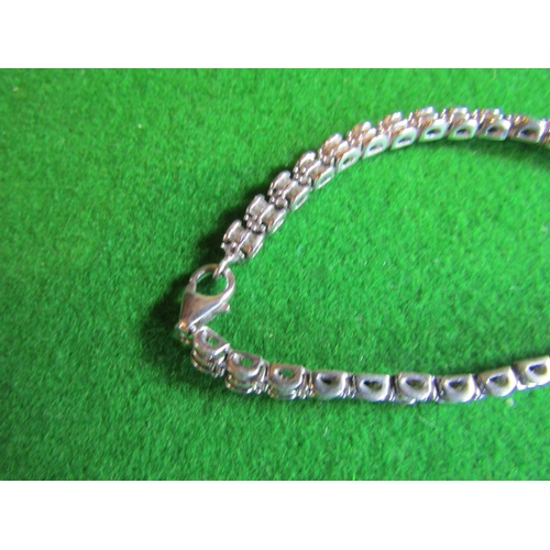 17 - Ladies Diamond Set Line Bracelet with 222 Baguette Cut Diamonds Set in White Gold Unmarked Attractiv...