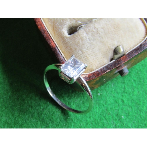 84 - 18 Carat White Gold Mounted Single Stone Ladies Diamond Ring of Attractive Colour...