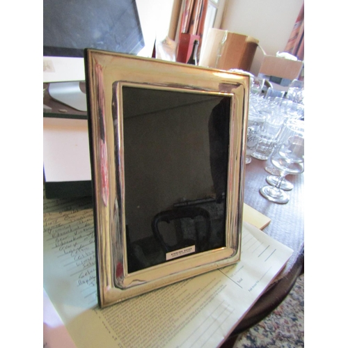 12 - Irish Solid Silver Photograph Frame Rectangular Form Approximately 8 Inches High x 5 Inches Wide...