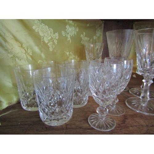 14 - Collection of Various Waterford Crystal Including Six Tumblers and Six Pedestal Glasses...
