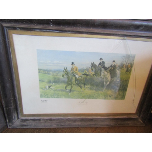 18 - Set of Four Hunting Prints Contained within Original Frames Each Approximately 17 Inches High x 22 I...