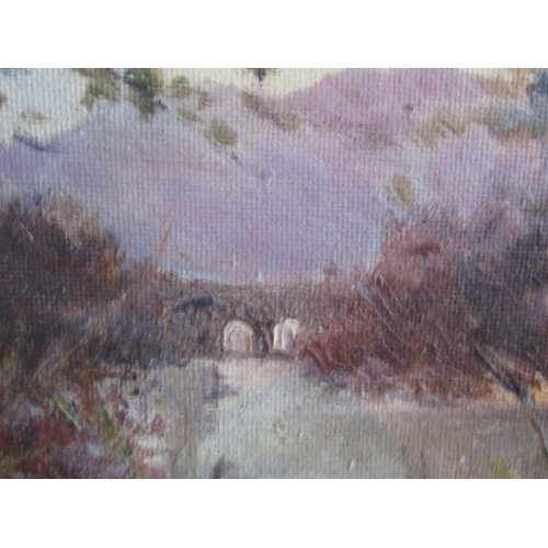 20 - Deirdre O'Donnell Old Weir Bridge Killarney Oil on Board Signed Lower Right Approximately 12 Inches ...