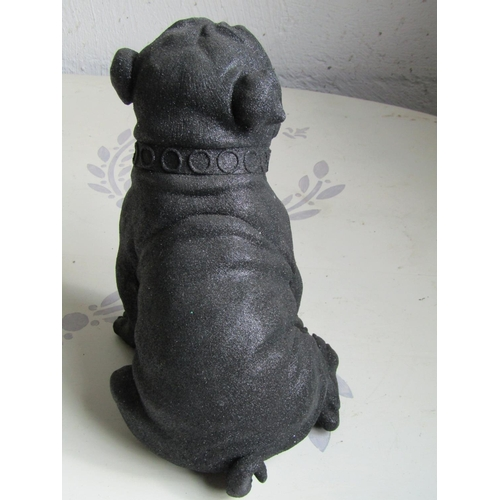 205 - Modern Designer Seated Dog Figure Approximately 10 Inches High...
