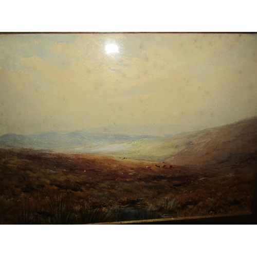 21 - Bingham McGuinness 1849-1928 RHA West of Ireland Scene Watercolour Signed Dated 1882 Approximately 9...