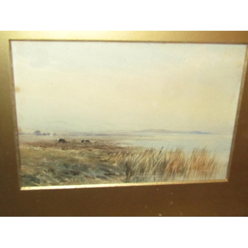 22 - Bingham McGuinness 1849-1928 RHA Pair of Watercolours Lake Scenes with Mountains Beyond Each Approxi...