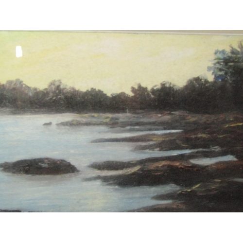 23 - George McConkey Coastal Scene Oil on Canvas Approximately 14 Inches High x 18 Inches Wide Signed Low...