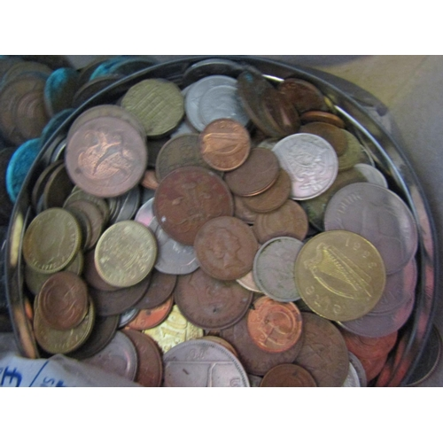 31 - Collection of Old Irish and Other Coins Quantity As Photographed...