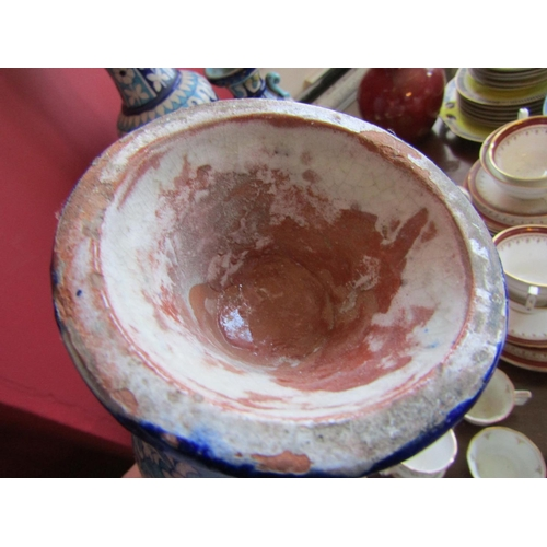 37 - Collection of Old Earthenware Six Pieces in Lot Tallest Approximately 22 Inches High