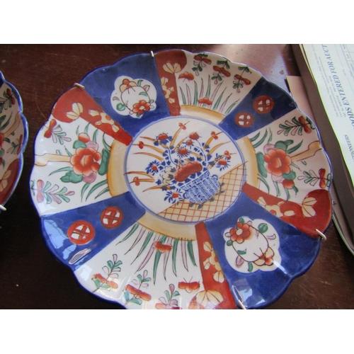 50 - Pair of Antique Imari Dishes Each Approximately 13 Inches Diameter...