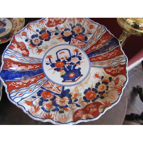 54 - Pair of Imari Dishes Antique with Another Two Antique Imari Chargers Largest Approximately 12 Inches...
