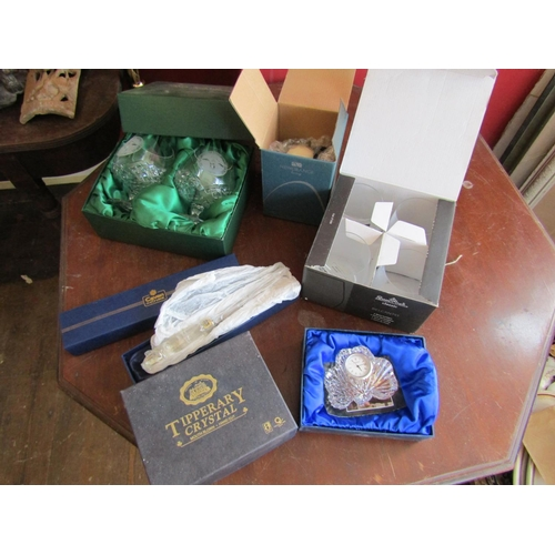 59 - Various Boxed Crystal Including Tipperary, Galway and Cavan Five Pieces in Lot...