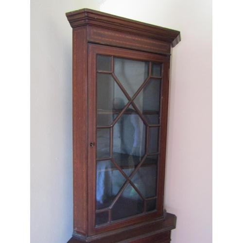 6 - Edwardian Astral Glazed Corner Cabinet Approximately 6ft 2 Inches High Mahogany...