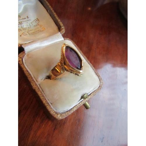 1 - Vintage Amethyst Set Ring Mounted on 18 Carat Gold Size R...