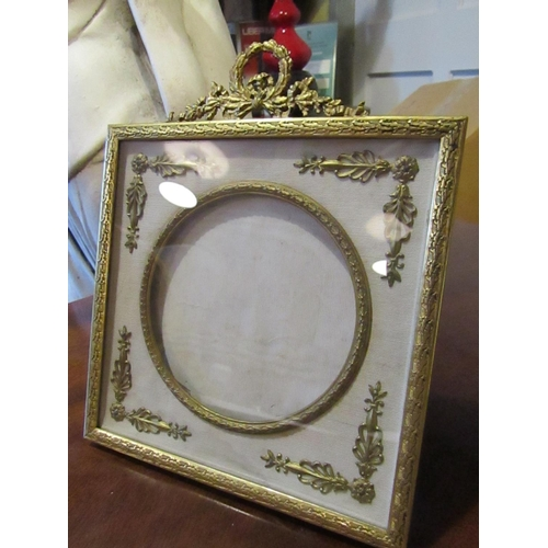 13 - Antique Ormolu Mounted French Photograph Frame of Elegant Form with Upper Cartouche Decoration Appro...