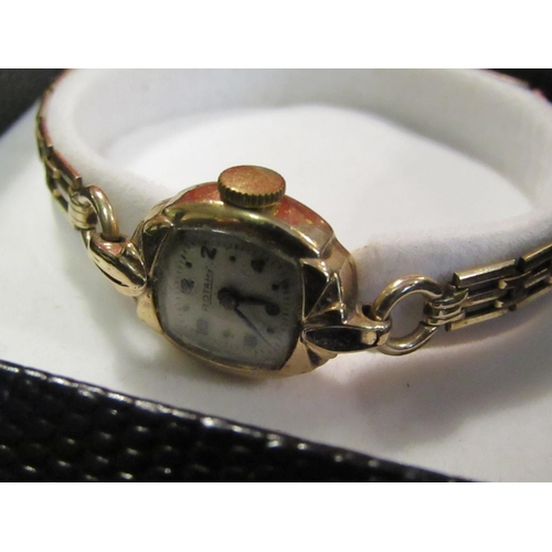 15 - Rotary Ladies 9 Carat Yellow Gold Cased Watch 17 Dual Movement...