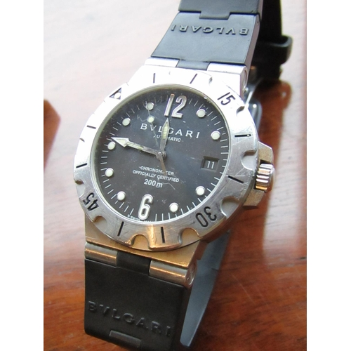 19 - Bulgari Gentleman's Diagono Scuba Divers Wristwatch Stainless Steel Case with Calibrated Bezel SD385...