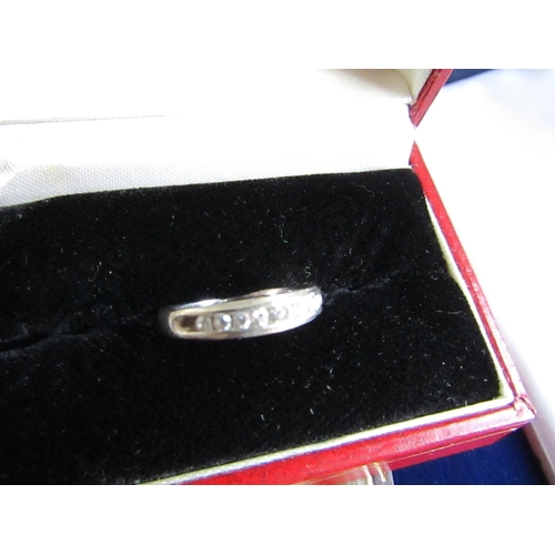 9 Carat White Gold Half Eternity Ring Size L and a Half