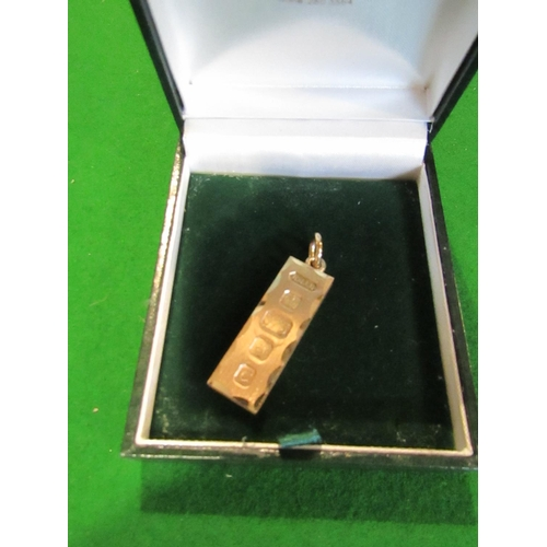 24 - 9 Carat Gold Ingot Good Weight...